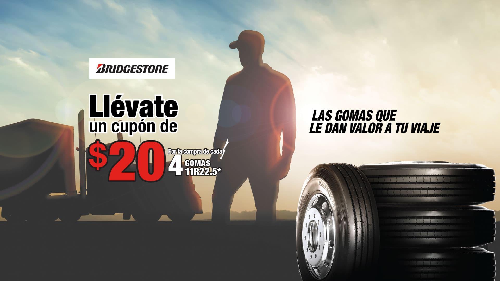 Oferta Bridgestone $20 Dólares